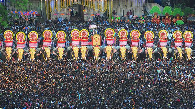 18 പേർക്ക് കോവിഡ് : തൃശൂർ പൂരം പ്രദർശനം പൂട്ടി
